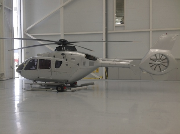 EC135T1 with new livery paintwork.