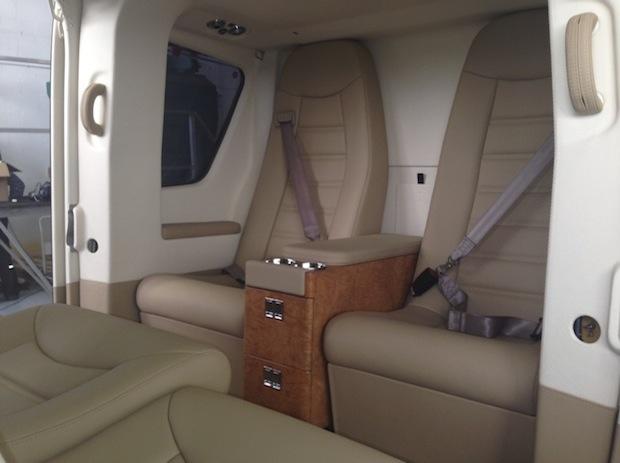 EC135T1 interior design and coachwork.