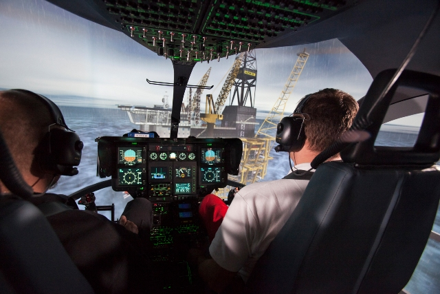 Advanced Airbus Helicopter EC135 and EC145 flight simulator training at the HEMS Academy.