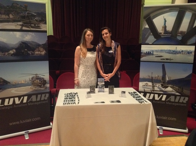 Mairi Lockwood of Luviair and Marion Choppin of Airbus Helicopters at the Isle of Man Aviation Conference.